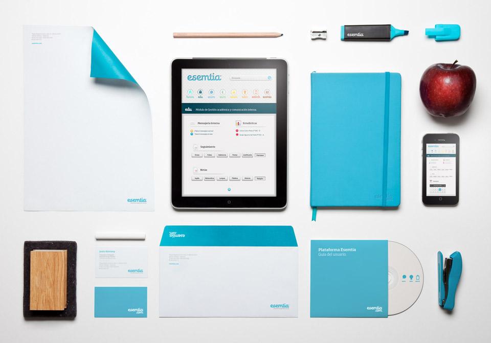 Elementos Esemtia Corporativa. Pixelarte estudio de diseño gráfico, creatividad y web.
