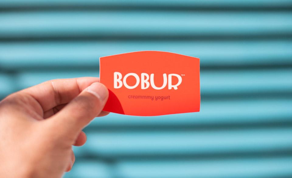 Tarjeta corporativa Bobur. Pixelarte estudio de diseño gráfico, creatividad y web.