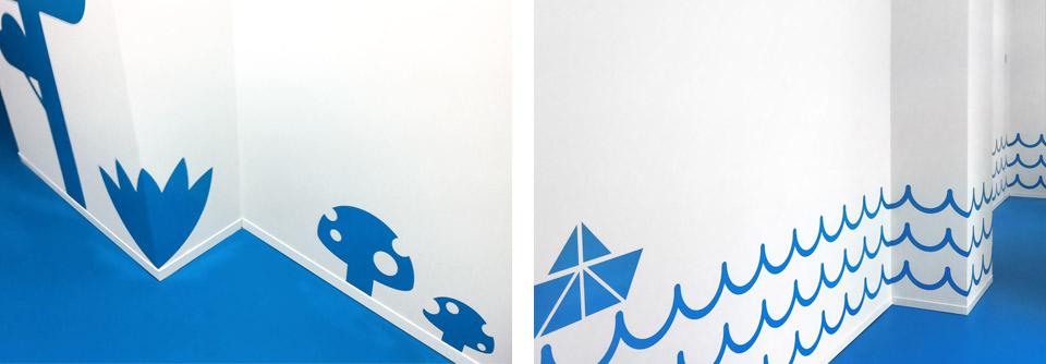 Pasitos, pasillo. Pixelarte estudio de diseño gráfico, creatividad y web.