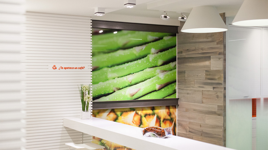 Diseño de identidad corporativa Saibo - Diseño de interiores señalética empresa de alimentación - Estudio de diseño gráfico Valencia Pixelarte