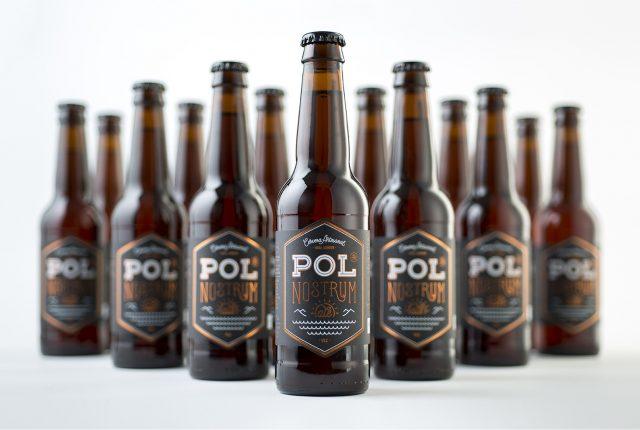 Diseño de logotipo cerveza Pol Nostrum Ale - Diseño de packaging cerveza - Diseño de lettering - Diseño de etiquetas para botella de bebida - Estudio de diseño Valencia Pixelarte