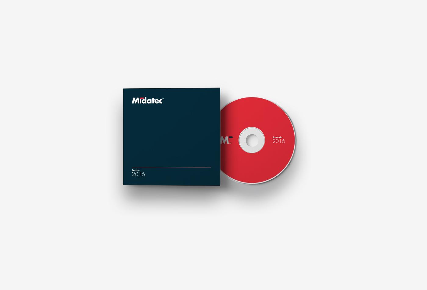 Diseño de identidad corporativa para empresa tecnológica - Diseño de papelería corporativa Midatec - Estudio de diseño Valencia Pixelarte