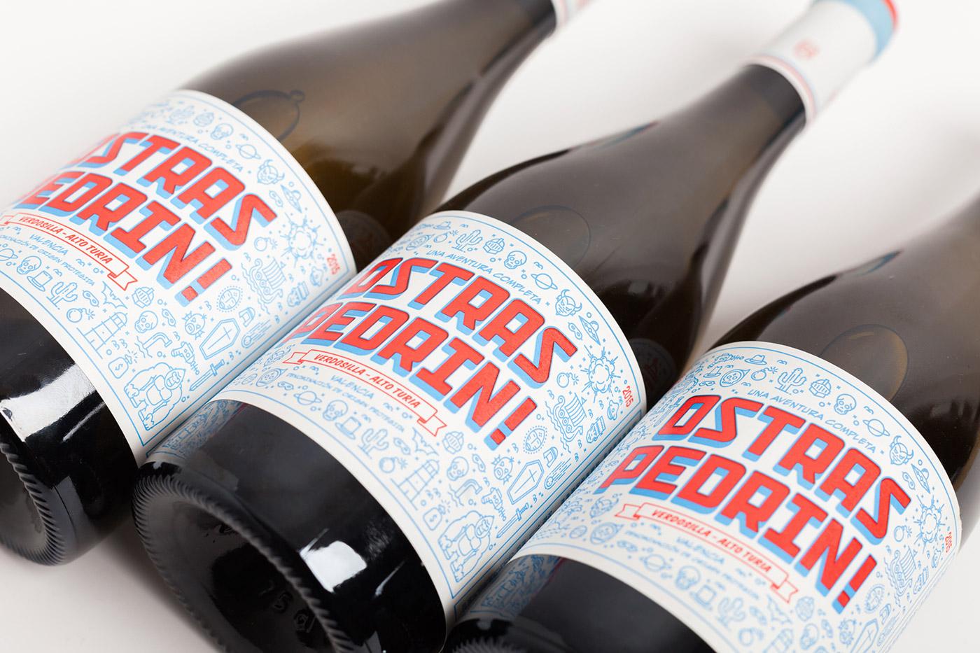 pixelarte-diseno-grafico-labelling-vino-Ostras_pedrin-Bodega-Vicente_Gandia