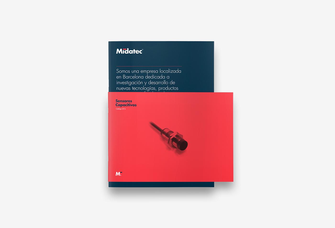 Diseño de identidad corporativa para empresa tecnológica - Diseño de dossier corporativo Midatec - Estudio de diseño Valencia Pixelarte