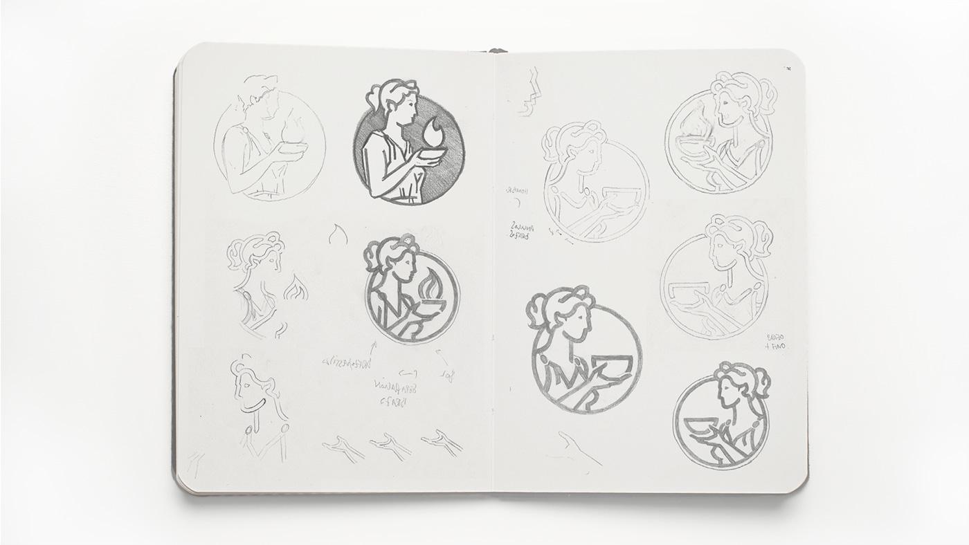 pixelarte-estudio-diseno-grafico-proceso-bocetos-diseno-logotipo-diosa-futura-insurance