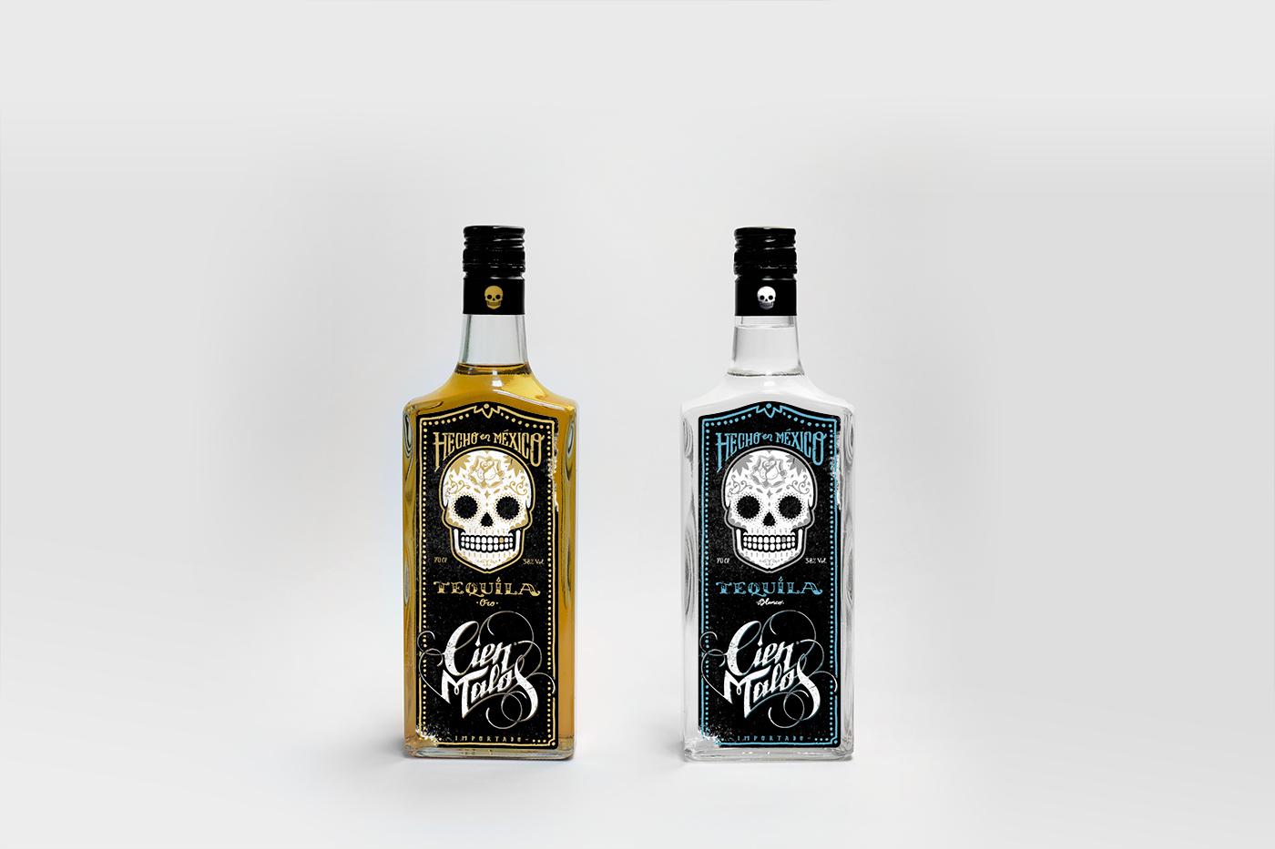 Diseño de packaging tequila Cien Malos
