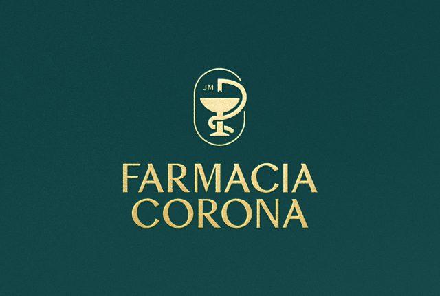 Diseño de identidad corporativa Farmacia Corona - Pixelarte estudio de diseño Valencia
