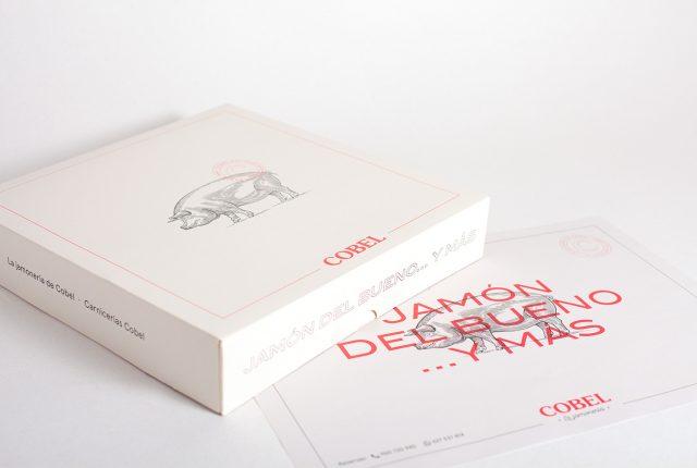 Identidad corporativa para restaurante bar Cobel - Packaging para jamón carnicería Cobel - Estudio de diseño Valencia Pixelarte