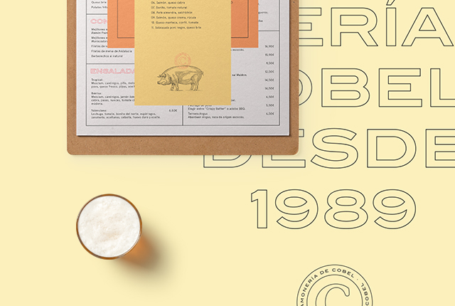 Marketing para restaurantes - Branding jamonería Cobel - Estudio de diseño gráfico Valencia Pixelarte